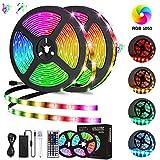 LED Light Strip, 10M/32.8Ft 300LEDs RGB SMD 5050 Color Changing with 44-Keys Remote