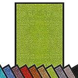 Zerbino Ingresso Casa - Tappeto Ingresso Interno, Esterno, Anti - Impronta, Alto Spessore (6 mm) in Vari Colori e Misure - 40x60 cm - Verde Limone