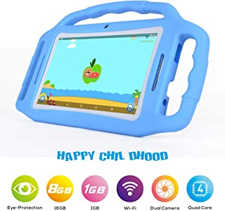 BENEVE Tablets for Kids,Andriod 7.1 Edition Tablet with 1GB RAM 8GB ROM and WiFi,Kids Software iWawa Pre-Installed. (Light Blue)