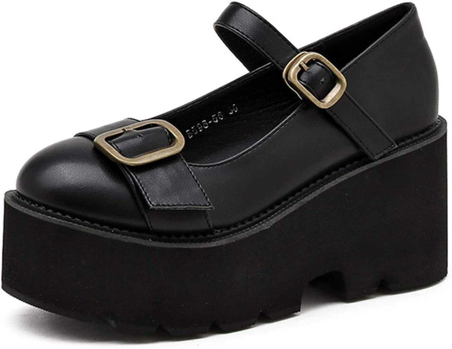 Btrada Ranking TOP5 Womens Buckled Mary Jane Shoes New product! New type Style Japanese Platform Ch