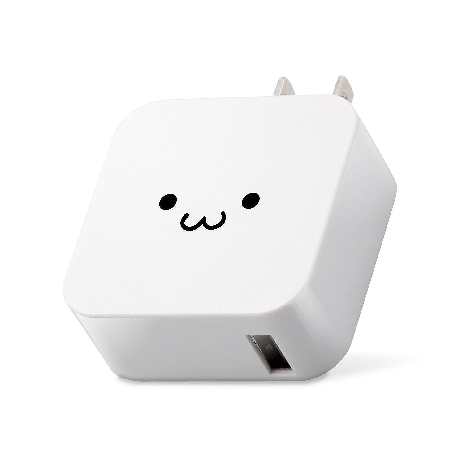 ブロック計り知れない小康エレコム 充電器 ACアダプター 【iPhone & iPad & Android & IQOS & glo 対応】 折畳式プラグ USBポート×1 (2.4A出力) ホワイトフェイス