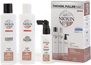 Nioxin System 3 Trial Kit for Coloured Hair with Light Thinning, 150ml+150ml+50ml