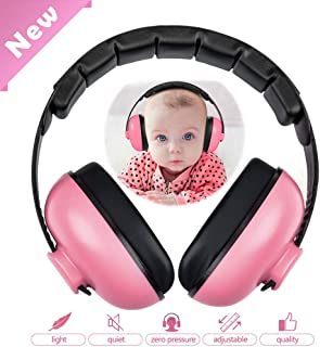 HOODO Baby Noise Cancelling Headphones,Baby Earmuffs,Hearing Protection Headphones,Baby Ear Protection–Ages 0-3 Years(Pink)