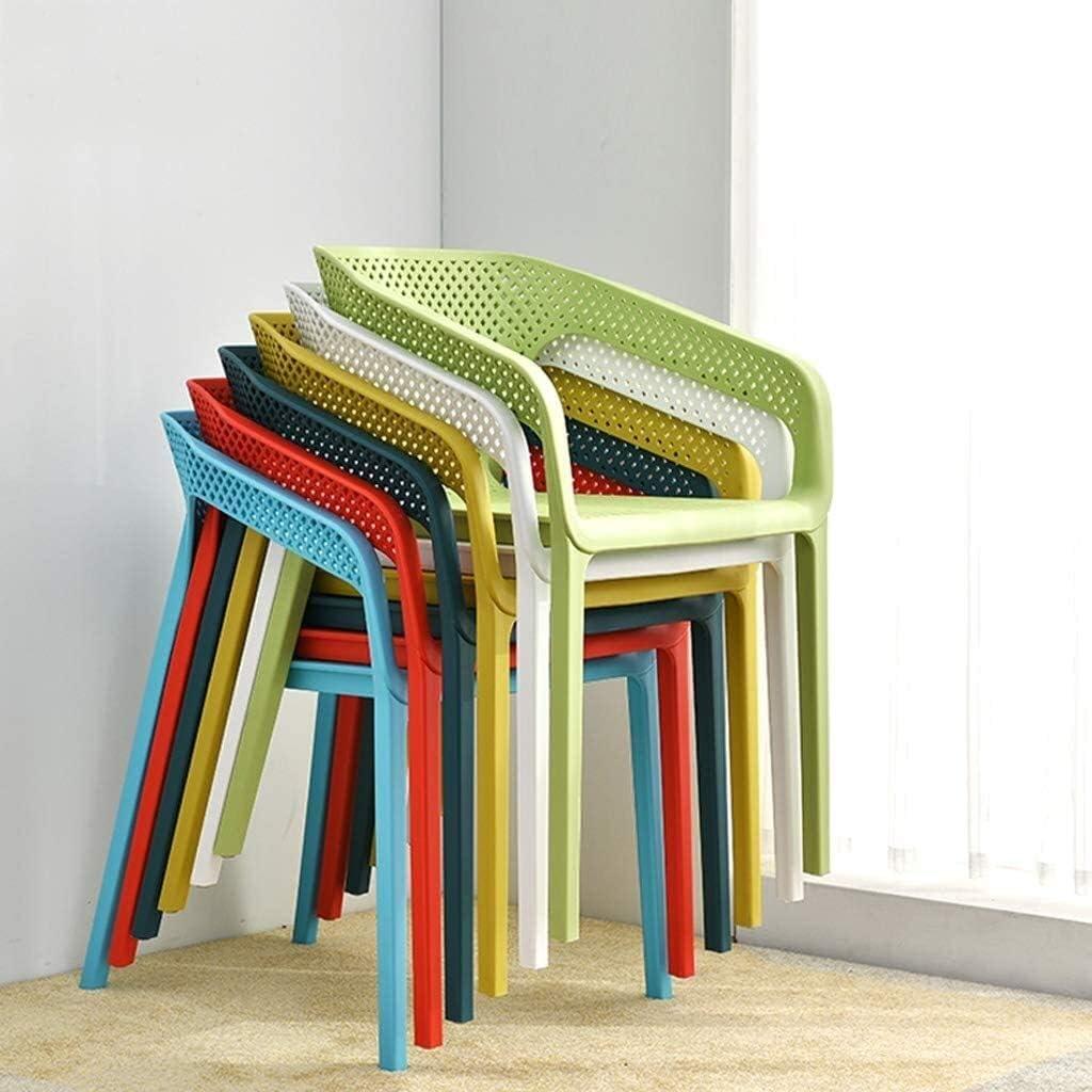 GSN Président de maison Chaise Fauteuil de bureau simple chaise moderne de loisirs Magasin Chaise d'extérieur en plastique Chaise à manger fauteuils (Color : Red) Yellow