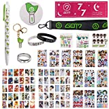 Fatyi Got7 Gift Set with photocard, Got7 Merchandise with Keychain, Ring, Lanyard, 3D Sticker, Sticker, Pen, Wristband, Banner, Phone Stand