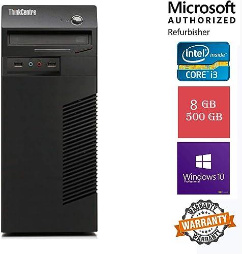 (Renewed) Lenovo ThinkCentre M71E Desktop (Core I3 3.3 Ghz, 8 GB RAM/ 500 GB HDD/ Win 10 Pro, MS Office/ Intel H61 Express/ USB, Ethernet,VGA,Display Port,Audio, Black product image