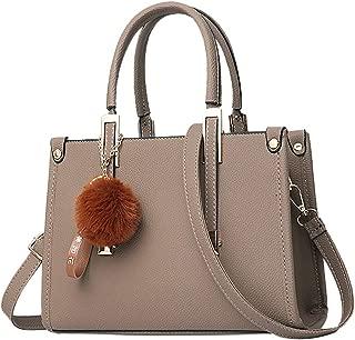 Women Handbag Crossbody Bag Hairball Ornaments Tote Solid Sequins Handbag Purse Messenger Shoulder Bag Backpack