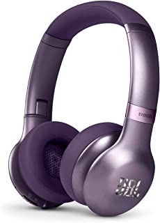JBL Everest 310GA Wireless Bluetooth On-Ear Headphones with Voice Activation and Built-in Remote and Microphone - Purple