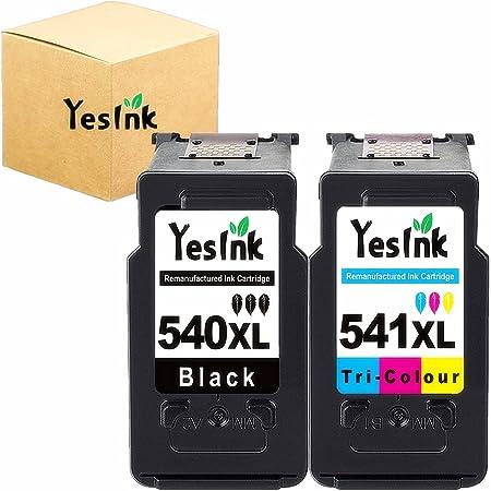 PG-540XL CL-541XL Remplacement pour Cartouche Canon 540 et 541 xl encre Canon 540 et 541 compatibles pour Canon PIXMA MG3650 MG3550 MG4250 Imprimante (1 Noir, 1 Tri-Couleur)
