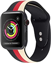Sponsored Ad - iDream365 Band Compatible with Apple Watch 42mm 44mm,Soft Silicone Fadeless Pattern Printed Replacement Flo...