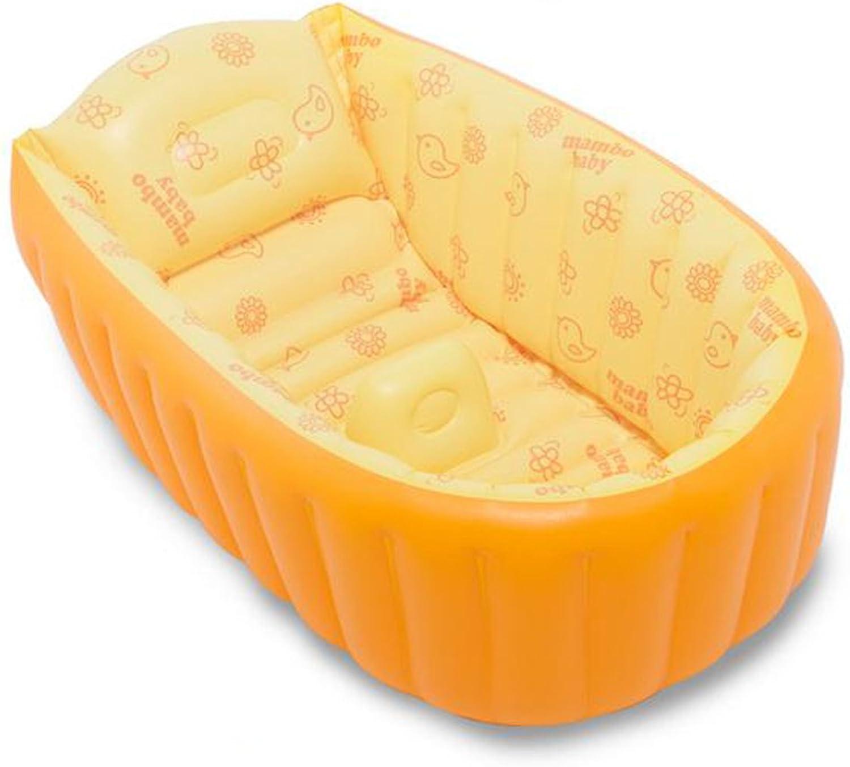 AINIYF Aufblasbare Badewanne Kinderwrmebadewanne Verdicken Kinderwrmebadewanne (Gre  90x45x28cm) (Farbe   Gelb)