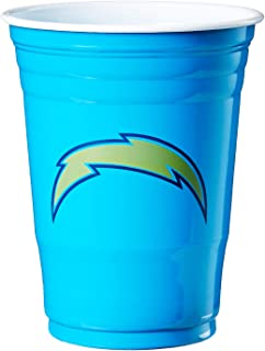 NFL Siskiyou Sports Fan Shop Los Angeles Chargers Plastic Game Day Cups 18 count Team Color