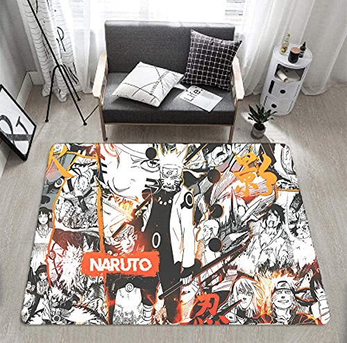 Naruto Rug Anime Area Rugs for Boys Living Room Bedroom (24x36 Inches)-Photo_Color_40X60cm