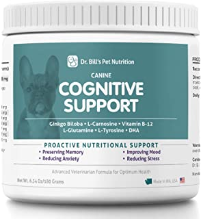 Dr. Bill's Canine Cognitive Support | Pet Supplement | Memory Support Supplement for Dogs | Contains Gingko Biloba, L-Carn...