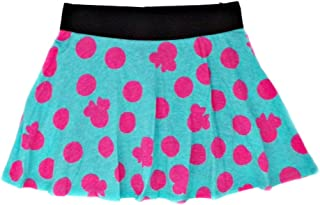 Disney Minnie Mouse Polka Dot Skort Skirt for Youth Girls, Teal and Pink