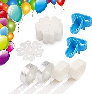 Coogam Balloon Decorating Strip Kit for Arch Garland 32Ft Balloon Tape Strip, 2 Pcs Tying Tool, 200 Dot Glue, 20 Ballon Fl...