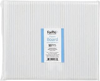 "ForPro White Mylar Foam Board, 100/180 Grit, Manicure and Pedicure Nail File, 7"" L x .75"" W, 50-Count"