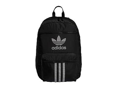 adidas Originals Originals Reflective 3-Stripes Backpack (Black/Reflective Silver) Backpack Bags