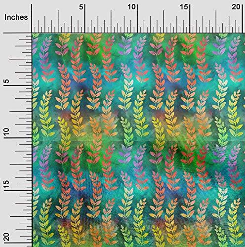 oneOone Flex Algodón Verde Tela Batik Coser Labores De Artesanía Impresiones De Tejidos Por Metros 40 Pulgada De Ancho