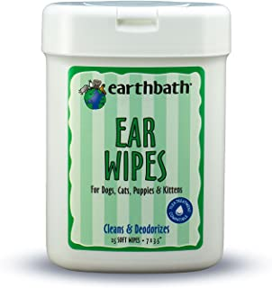 Earthbath 6 Pack of Eye Wipes for Dogs and Cats, 25 Count Each, Hypoallergenic, Cleans and Removes Tear Stains