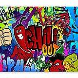 murando - Fototapete 400x280 cm - Vlies Tapete - Moderne Wanddeko - Design Tapete - Wandtapete - Wand Dekoration - Graffiti 10110905-11