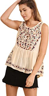 Boho Bliss Top! Embroidered Babydoll