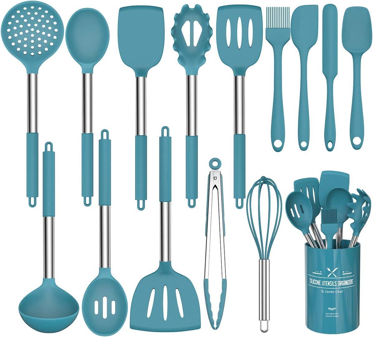 15 Pcs Silicone Cooking Utensils Kitchen Portland Mall - Che Max 43% OFF Umite Utensil Set