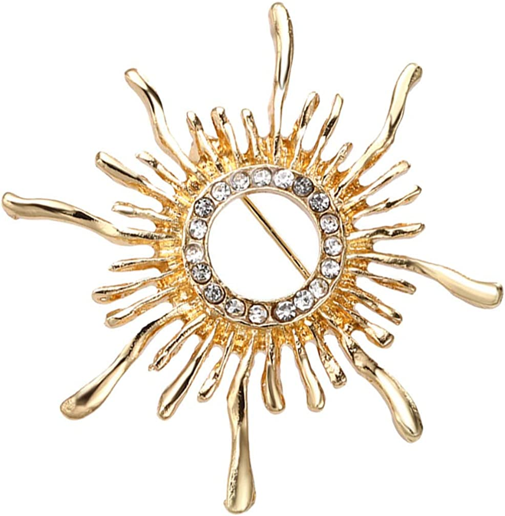 Holibanna Sunflower Brooches Collar Badges Lapel Pin Men Suit Stud Shirt Alloy Brooch Costume Accessories