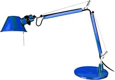 Artemide Tolomeo Micro Lampe de Table avec Base Bleue
