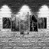 DUYU Seigneur des Anneaux 8 5 pièces Impression sur Toile Wall Art Decor-100x55cm