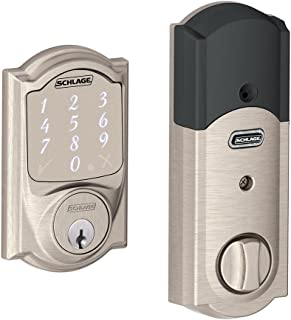 Schlage Sense Smart Deadbolt with Camelot Trim in Satin Nickel (BE479 CAM 619)