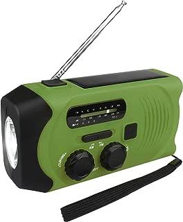 2019新款 防災ラジオ 手回し充電 ソーラー充電 USB充電 大容量2000mAh 多機能AM/FM 防災 台風 津波 地震 震災 停電緊急対策 SOSアラート アウトドア キャンプ 高齢者への贈り物 日本語取扱書付绿green色