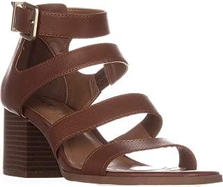 Womens Naomii Faux Leather Buckle Block Heels