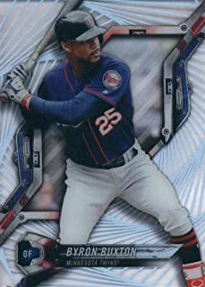 2018 Topps High Tek Pattern 4 Galactic Wave #HT-BB Byron Buxton Minnesota Twins Baseball Card