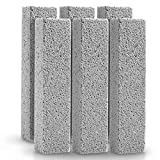 6 Pack Pumice Stone Toilet Bowl Clean Brush, Remove Toilet Bowl Hard Water Rings, Calcium Buildup...