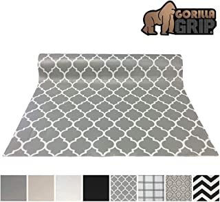 Gorilla Grip Original Smooth Top Slip-Resistant Drawer and Shelf Liner, Non Adhesive Roll, 12 Inch x 20 FT, Durable Kitchen Cabinet Shelves Liners for Kitchens Drawers and Desk, Quatre White Gray