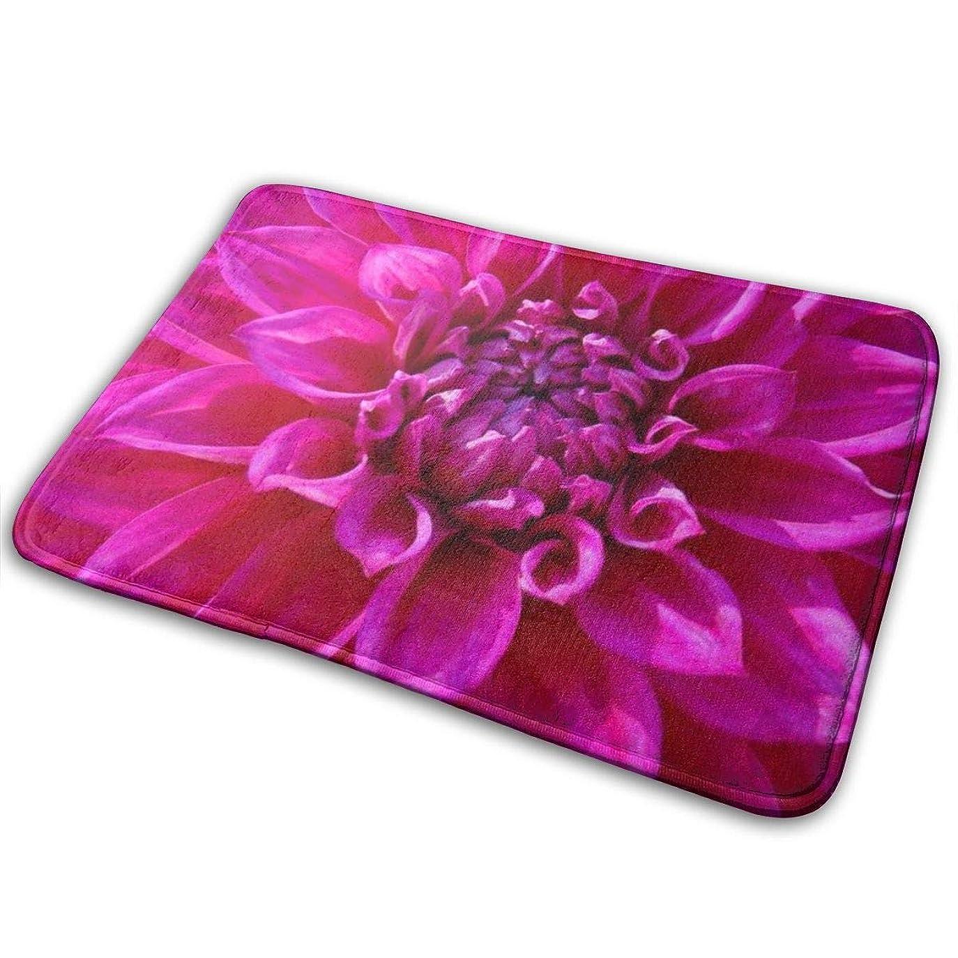 引き算相互ベッド咲く自然のホットピンクの菊の玄関マットの入口のマットの床のマットの敷物屋内/屋外/玄関/浴室のマットラバーノンスリップ23.6 X 15.8インチ