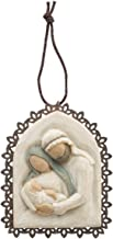 Willow Tree hand-painted sculpted Metal-edged Ornament, Holy Family