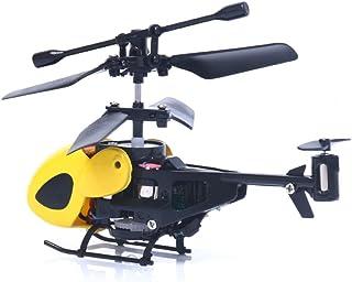 winwintom Flying Mini RC 2CH Mini RC helicóptero Radio Control Remoto avión Micro 2 Canales (Amarillo)