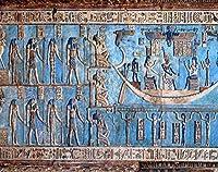 Aluffay レトロダイヤモンドペイントキット 古代エジプトの壁に彫刻と絵画 5D DIY フルドリル ダイヤモンドペイント ダイヤモンドアート ホームウォールデコレーション 大人と子供に最適 12 x 16インチ