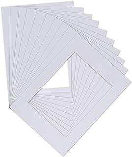 OTOTEC Lot de 10 passe-partout professionnels doux Blanc 29,7 x 21,1 cm/20,1 x 14,7 cm