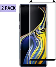 [2 Pack]Tehba Screen Protector Tempered Glass for Samsung Galaxy Note 9[Case Friendly][Anti Scratch][Anti-Bubble] 3D Cured Tempered Glass Screen Protector Compatible with Samsung Galaxy Note 9 [Black]