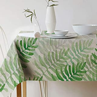 GWELL Mantel para Mesa Rectangular Impermeable, Plantas