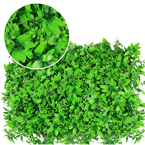 DLSMB Artificial Hedges Panels 12 Pieces Artificial Boxwood Panels Clover Faux Hedge Wall Privacy Screen Outdoor Indoor Garden Fence for Home Garden Backyard Wedding (Color : Green, Size : 60x40cm)