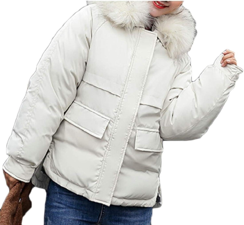 Keaac Womens Cotton Parka Fur Hooded Down Coats Down Jackets