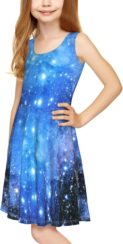 YhrYUGFgf Fantasy Abstract Dress Girl's Sleeveless Dress Casual Skirt Tank Dress