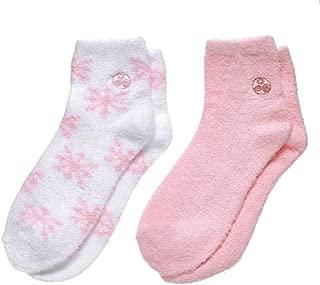 Earth Therapeutics Aloe Socks - Pink/Snowflake (2 Pack)