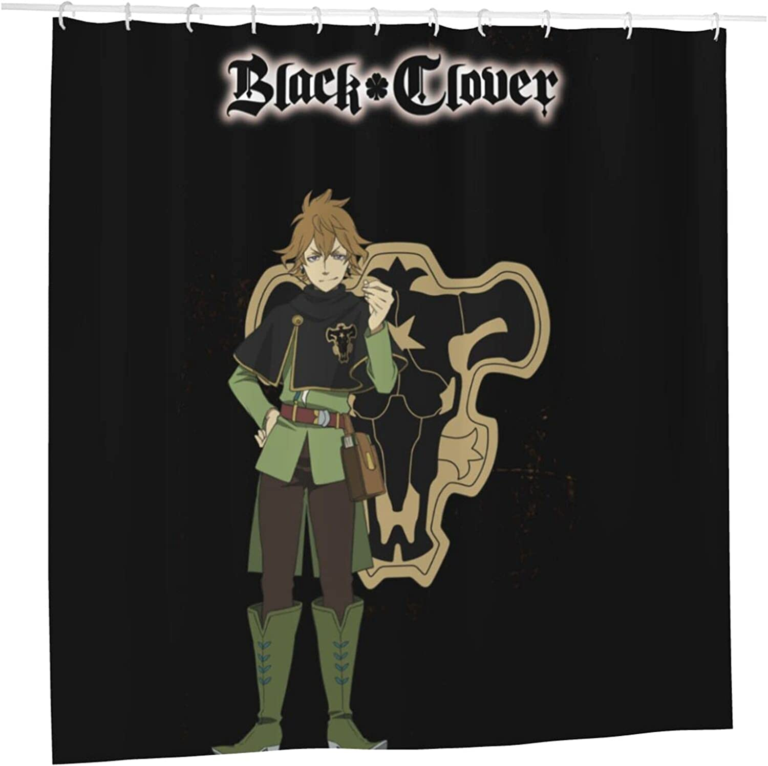 Black Clover free Anime Bathroom Shower Recommendation Curtain W Liner H 72