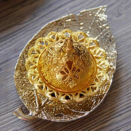 Pineapple Ramadán - Quemador de incienso de metal, bandeja de incienso de mano, quemador de incienso de incienso ideal para yoga, spa y aromaterapia
