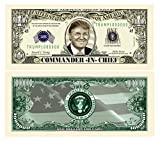 Pack of 5 - Donald Trump Commander In Chief Limited Edition Presidential Million Dollar Bills- Highly Collectible Novelty Dollar Bill - Funny for Democrats or Republicans - Funniest Political Gift
